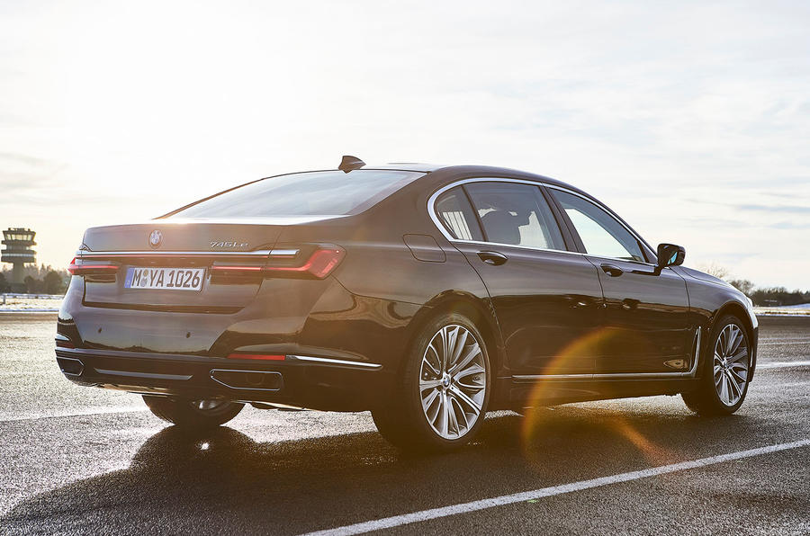 BMW 7 Series 745e 2019 first drive review - hero rear