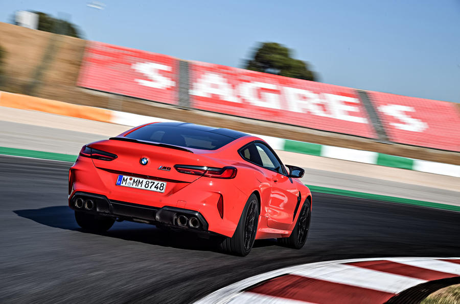 BMW M8 Competition Coupé 2019 first drive review - hero rear