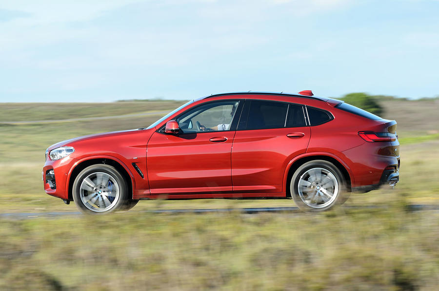 BMW X4 2018 UK first drive review hero side