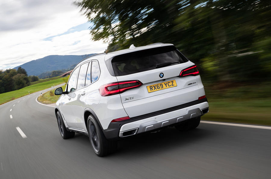 BMW X5 xDrive 45e 2019 UK first drive review - hero rear
