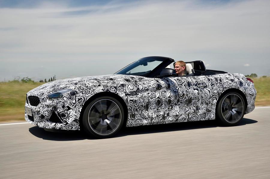 BMW Z4 prototype drive 2018 hero side
