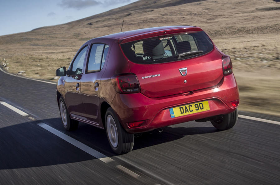 Dacia Sandero 2019 UK first drive review - hero rear