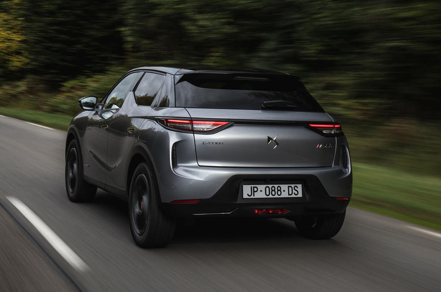 DS 3 E-Tense 2019 first drive - hero rear