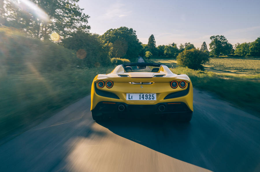 Ferrari F8 Tributo Spider 2020 UK first drive review - hero rear