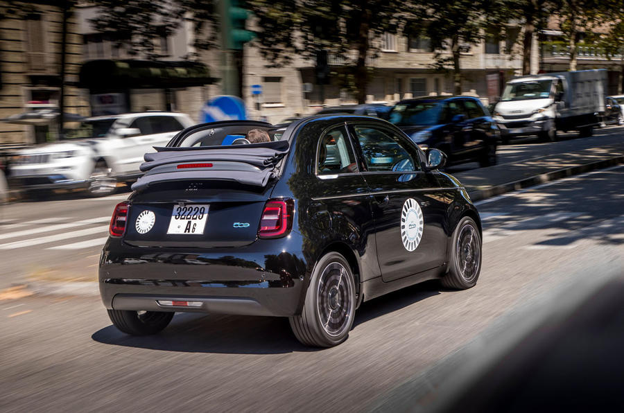 Fiat 500 electric 2021 first drive review - hero rear