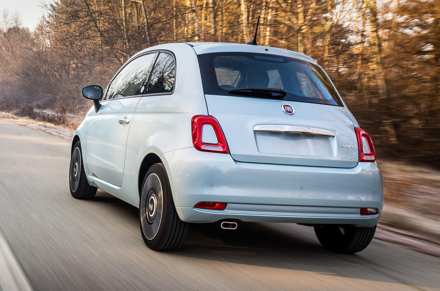 Fiat 500 Hybrid 2020 first drive review - hero rear