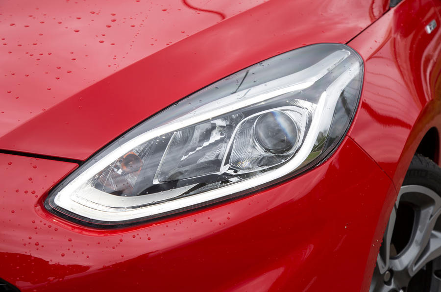 Ford Fiesta ST-Line 2018 long-term review headlights