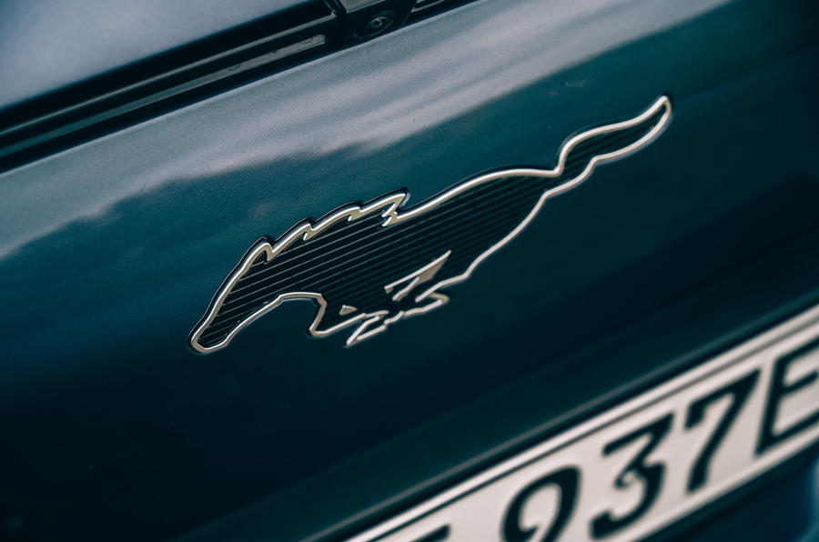 Ford Mustang Mach E 2021 UK first drive review -  nose badge