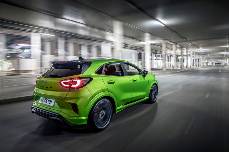Ford Puma ST 2020 UK first drive review - hero rear