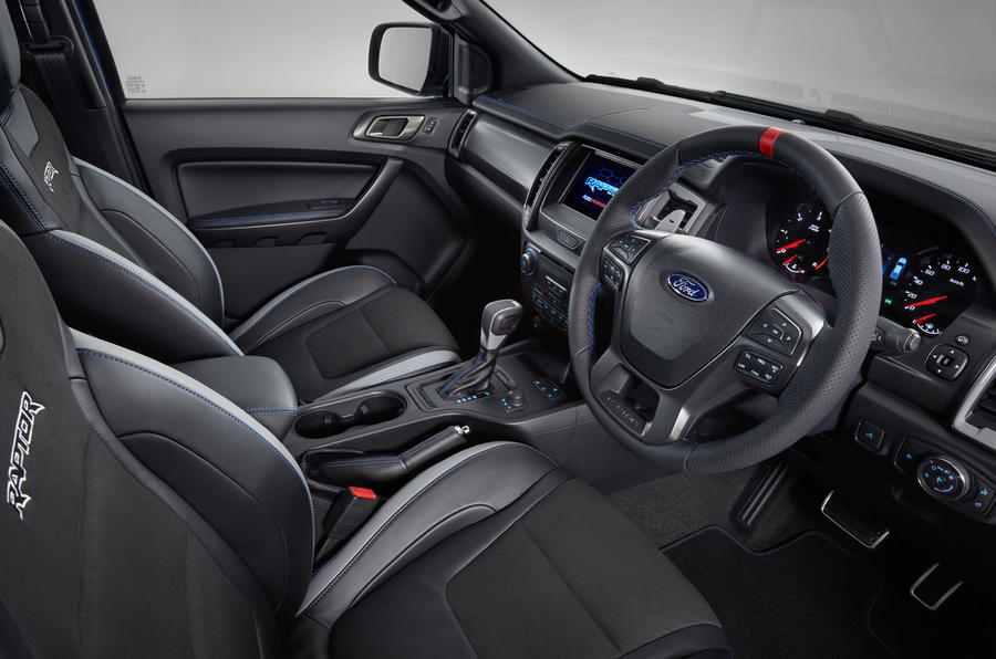 Ford Ranger Raptor 2018 first drive review cabin shot