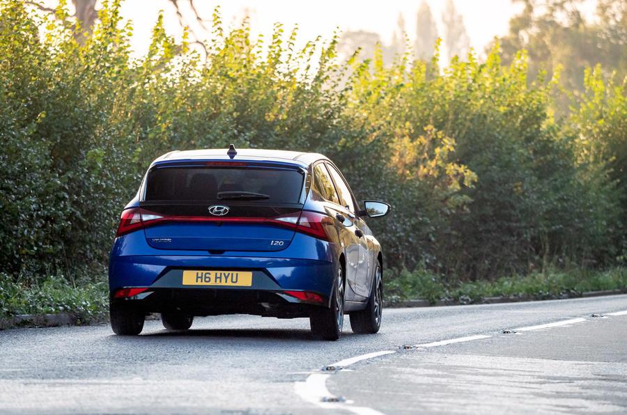 Hyundai i20 2020 UK first drive review - hero rear