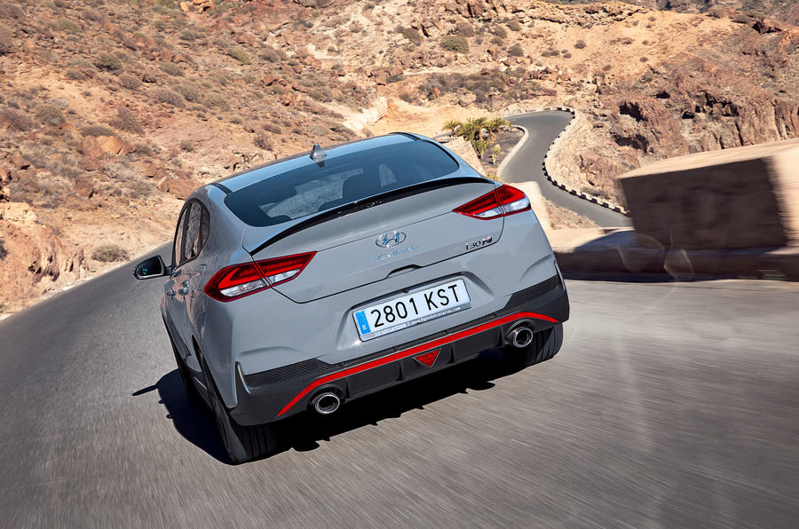 Hyundai i30 Fastback N 2019 first drive review - hero rear