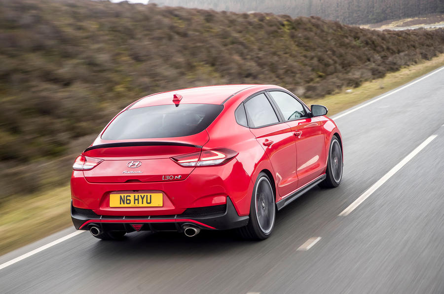 Hyundai i30 Fastback N 2019 UK first drive review - hero rear
