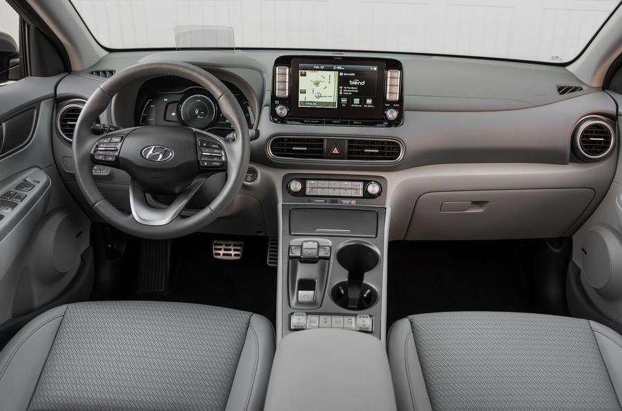 Hyundai Kona Electric 2018 first drive review cabin