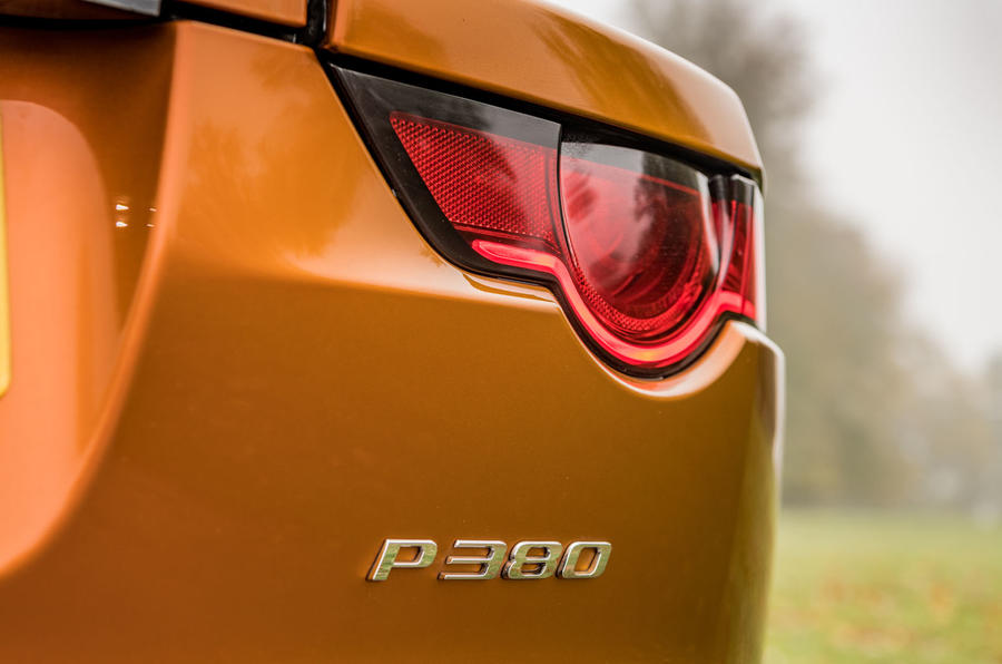 Jaguar F-Type MY2018 first drive review - rear lights