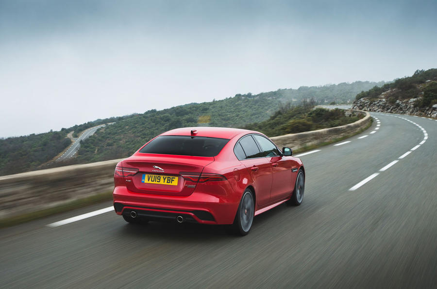 Jaguar XE P300 2019 first drive review - hero rear