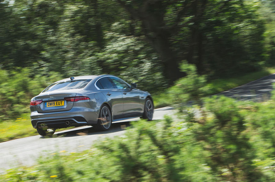 Jaguar XE P300 2019 UK first drive review - hero rear