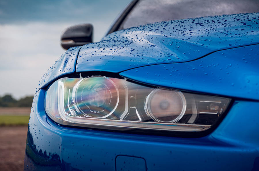 Jaguar XE SV Project 8 Touring 2019 UK first drive review - headlights