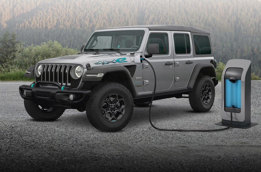 Jeep PHEV Wrangler Rubicon render 2020 - static front