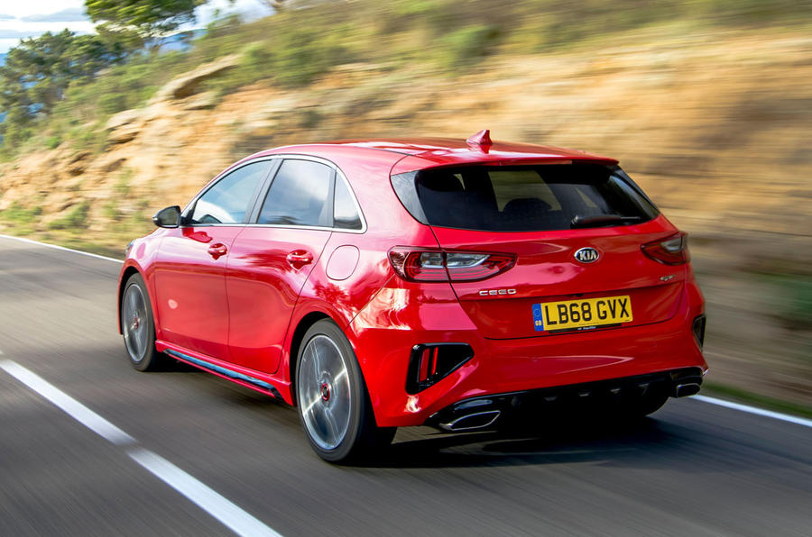 Kia Ceed GT 2019 first drive review - hero rear