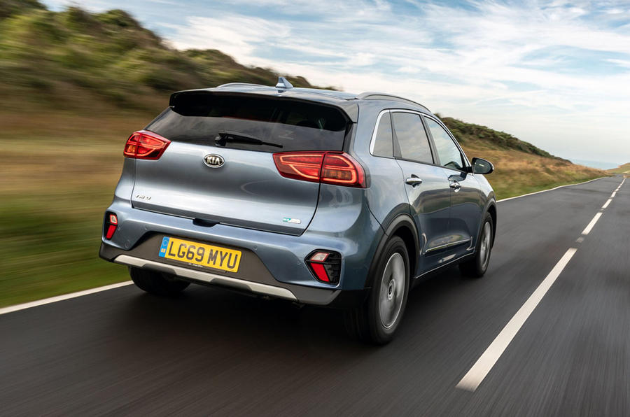 Kia Niro PHEV 2020 UK first drive review - hero rear