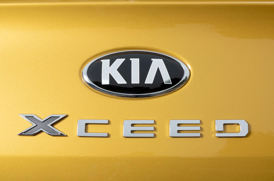 Kia Xceed 2019 first drive review - rear badge