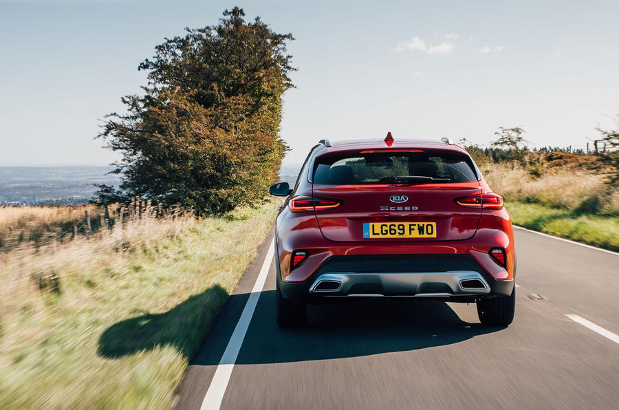 Kia Xceed 2020 UK first drive review - hero rear