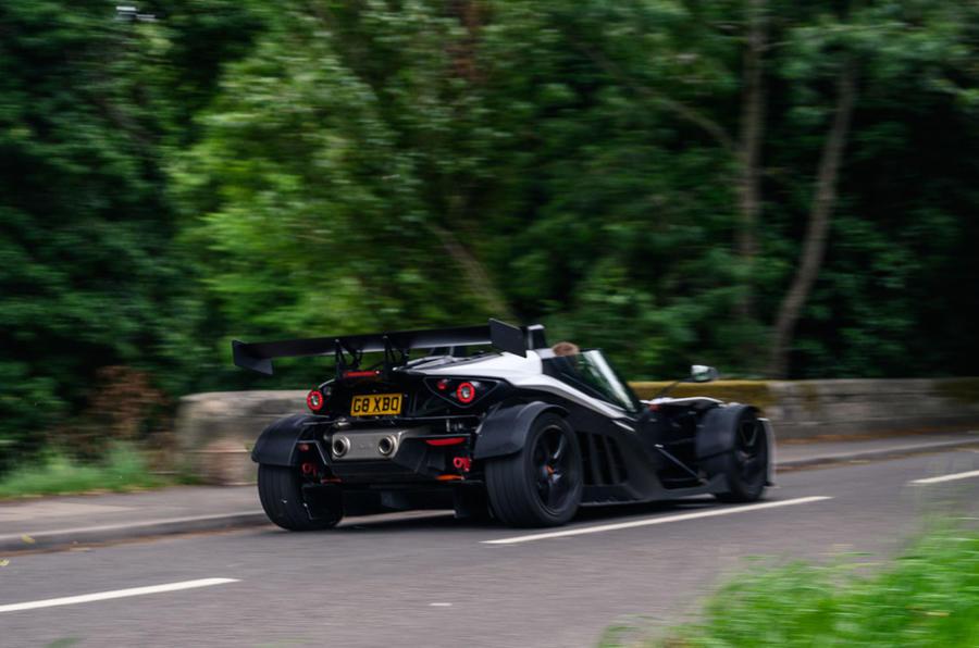KTM Xbow Darkside developments demonstrator - hero rear