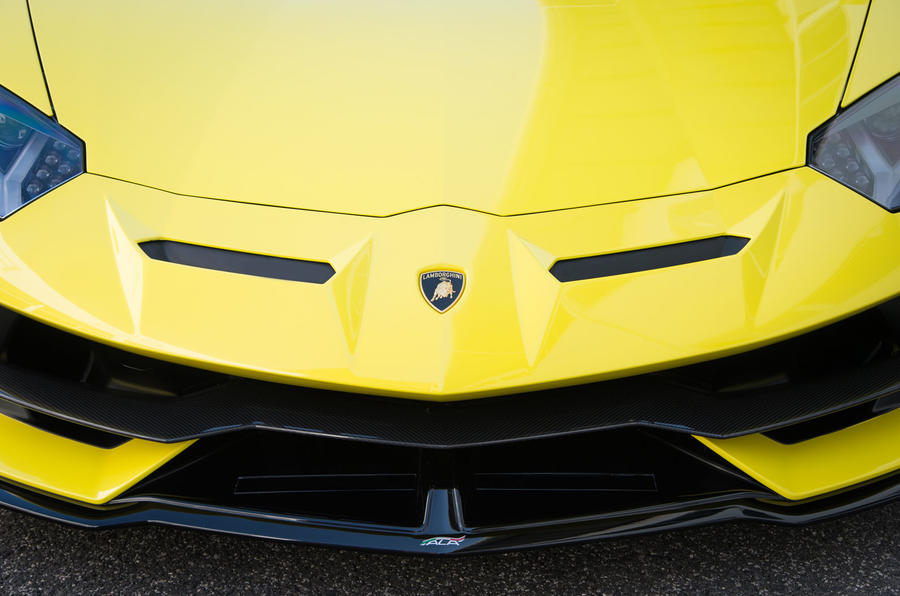 Lamborghini Aventador SVJ 2018 first drive review front end