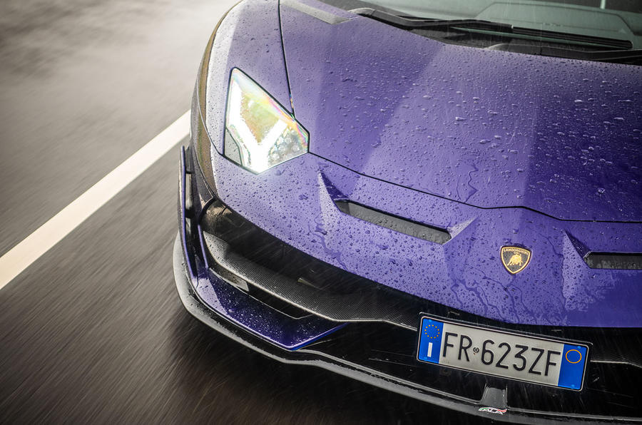 Lamborghini Aventador SVJ 2018 UK first drive review - front end