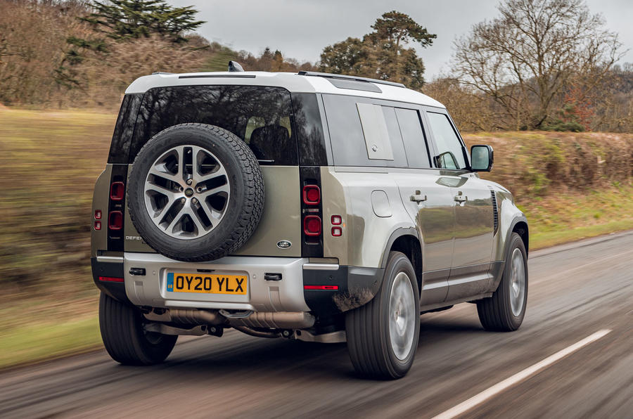 Land Rover Defender 110 2020 UK first drive review - hero rear