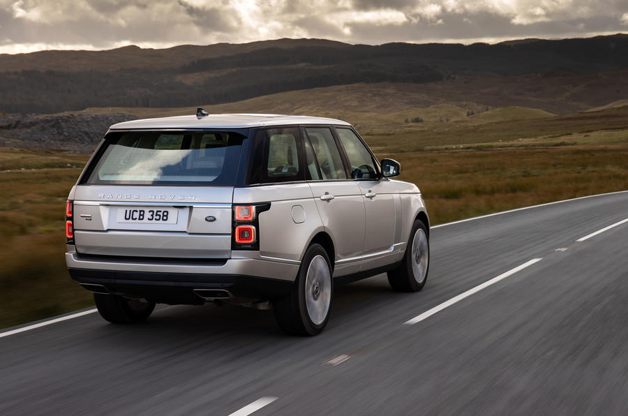 Land Rover Range Rover D350 mild hybrid 2020 UK first drive review - hero rear