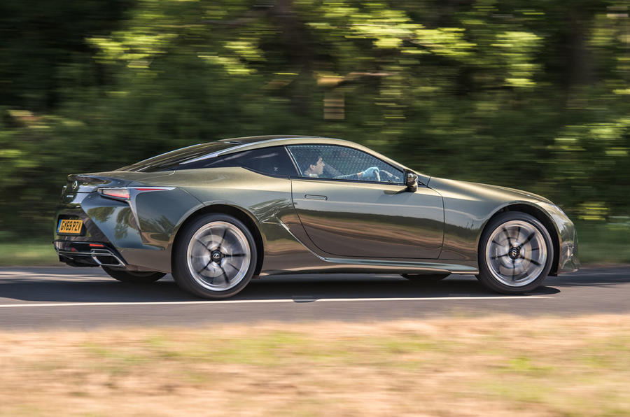 Lexus LC 500 Limited Edition 2020 UK first drive review - hero rear
