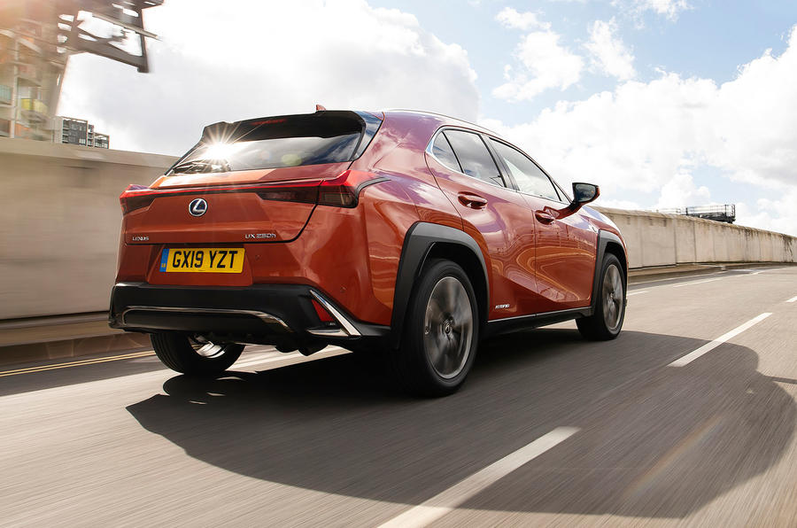 Lexus UX 2019 UK first drive review - hero rear