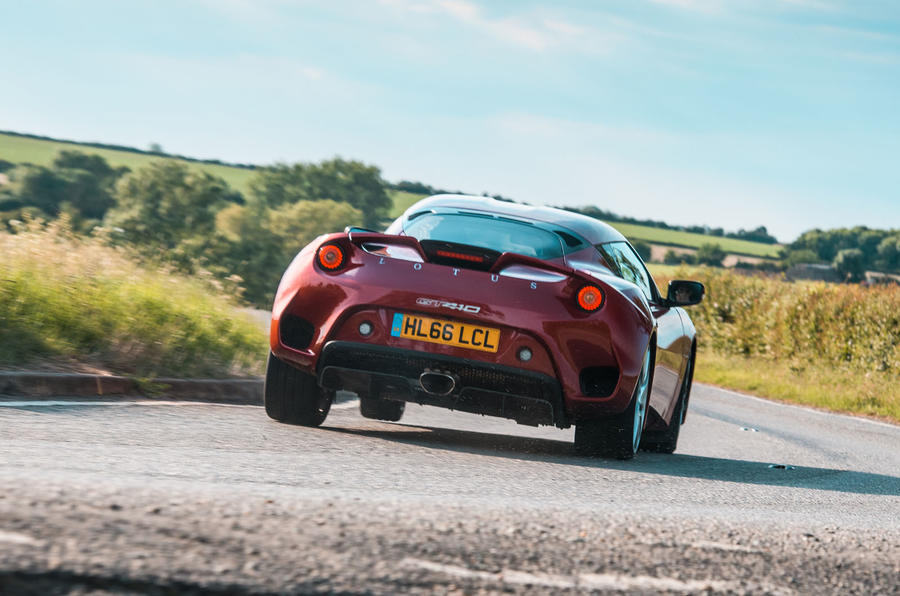 Lotus evora GT410 2020 UK first drive review - hero rear