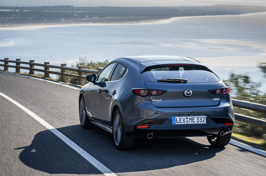 Mazda 3 2019 European first drive review - hero rear