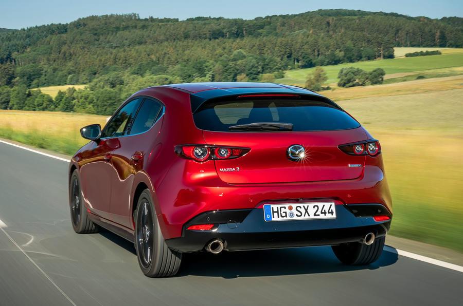 Mazda 3 Skyactiv-X 2019 first drive review - hero rear