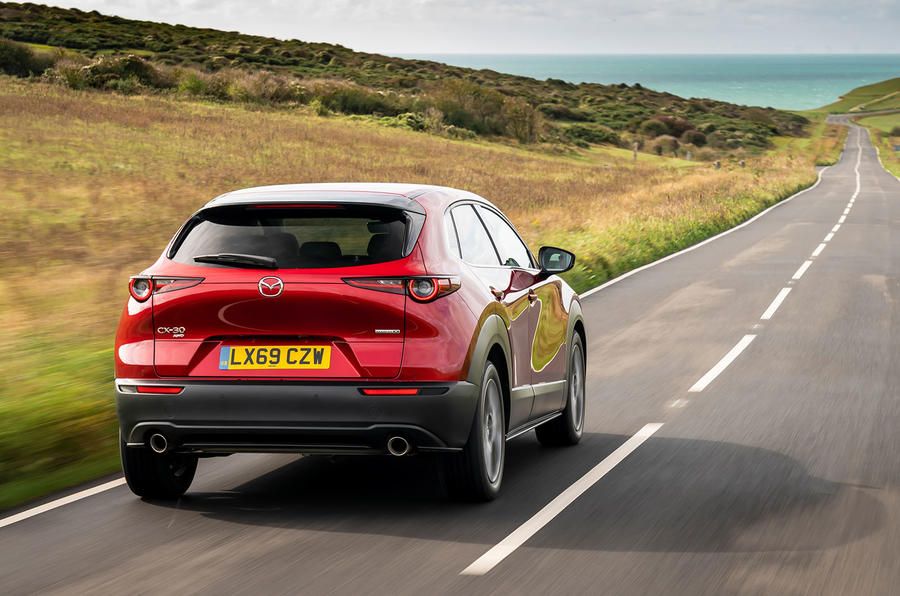 Mazda CX-30 2019 UK first drive review - hero rear