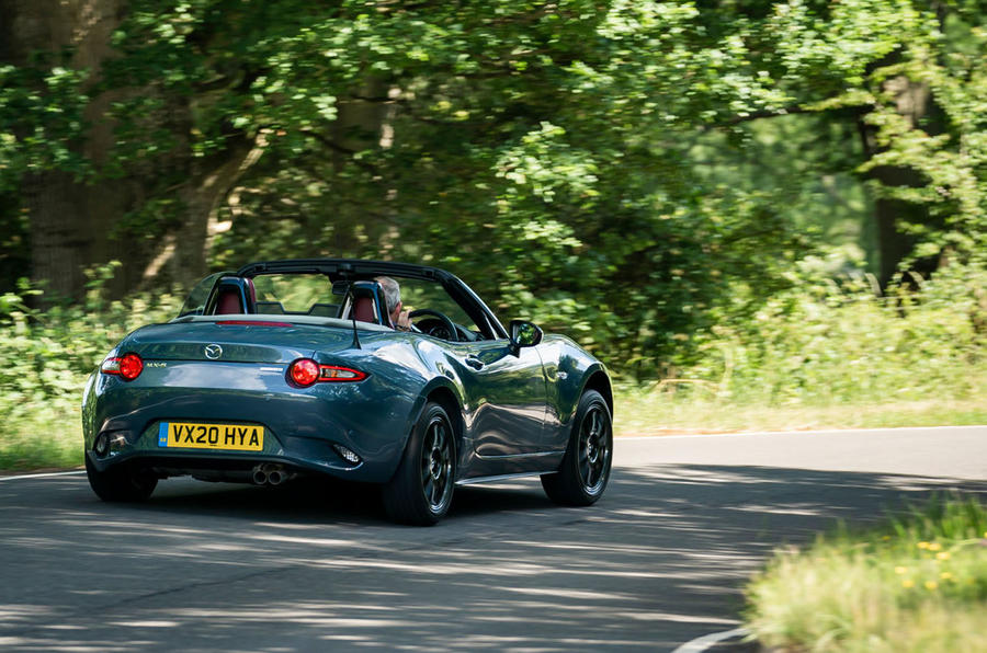 Mazda MX-5 1.5 R-Sport 2020 UK first drive review - hero rear