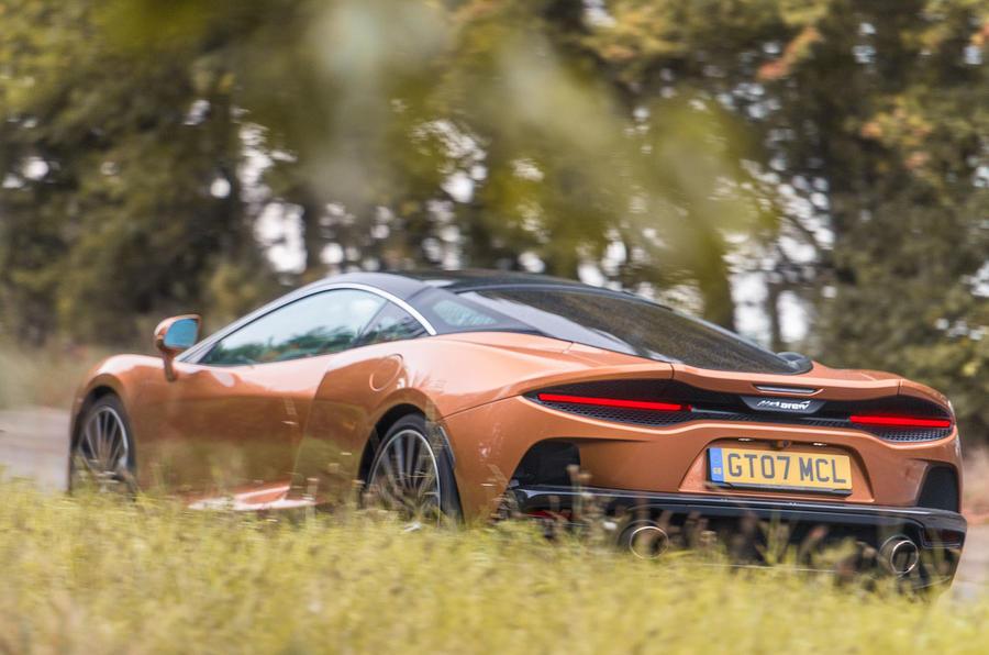 McLaren GT 2019 UK first drive review - hero rear