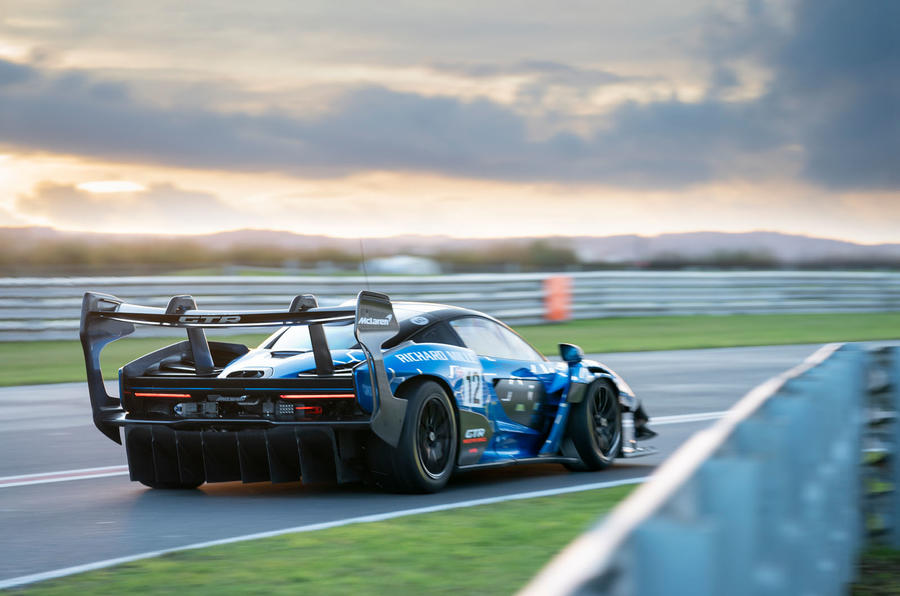 McLaren Senna GTR 2019 first drive review - hero rear