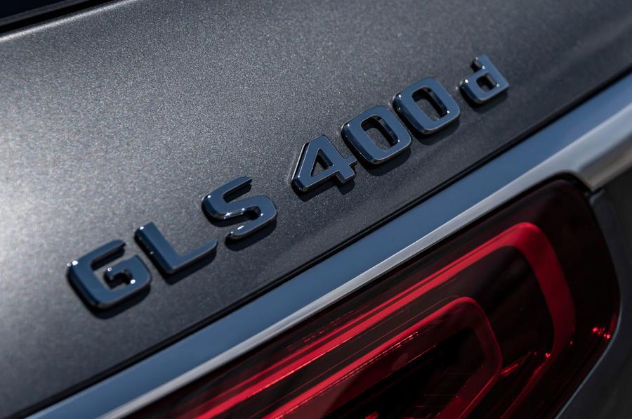 Mercedes-Benz GLS 400D 2019 first drive review - rear badge