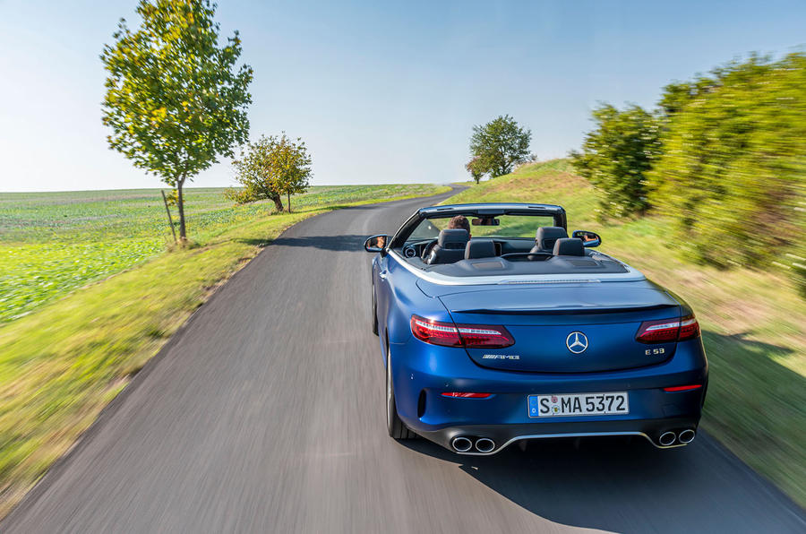 Mercedes-AMG E53 Cabriolet 2020 first drive review - tracking rear
