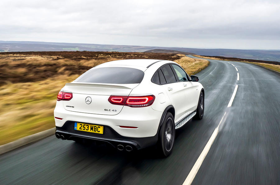 Mercedes-AMG GLC 43 Coupé 2020 UK first drive review - hero rear