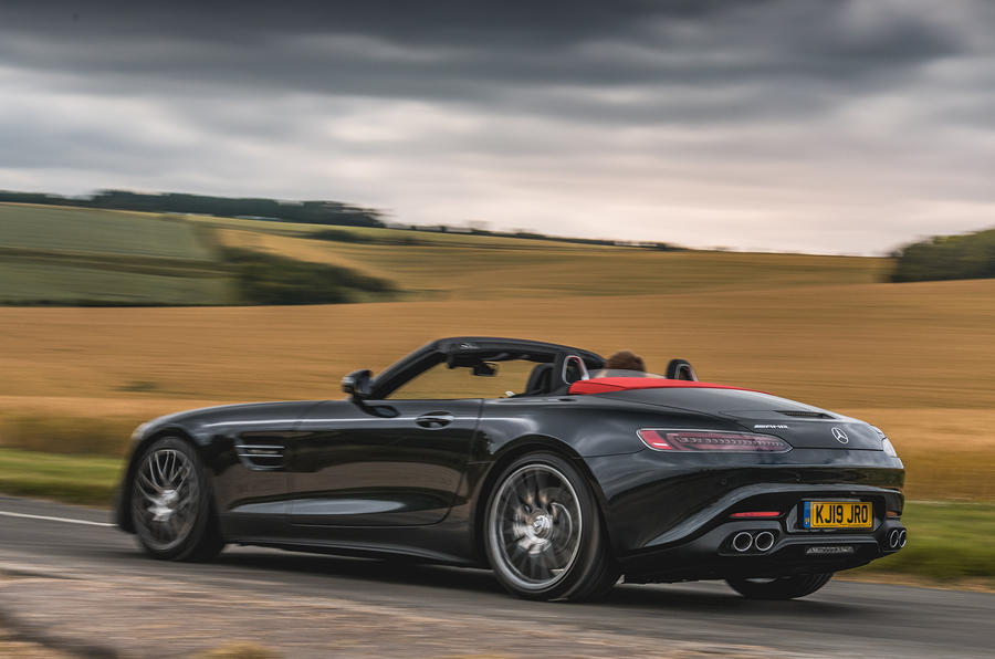 Mercedes-AMG GT Roadster 2019 UK first drive review - hero rear