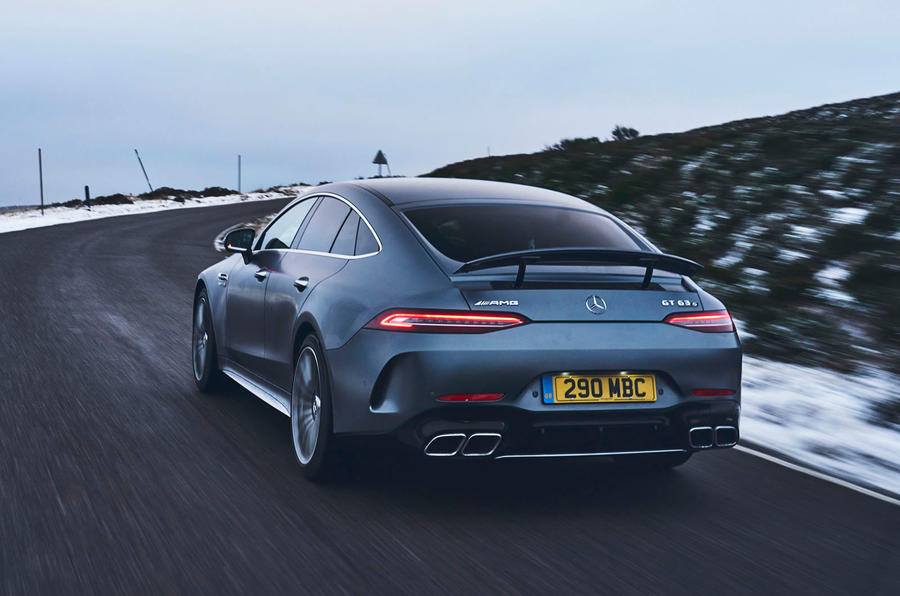 Mercedes-AMG GT 63 S 4-door Coupé 2019 UK first drive review - hero rear