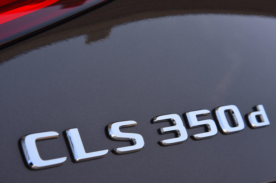 Mercedes-Benz CLS 350 d 2018 UK first drive badges