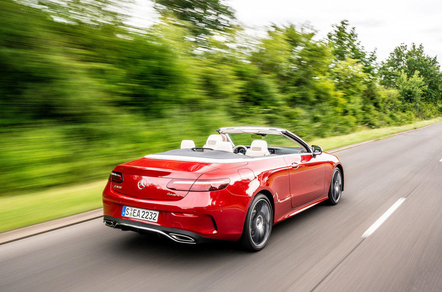 Mercedes-Benz E-Class e450 Cabriolet 2020 UK first drive review - hero rear