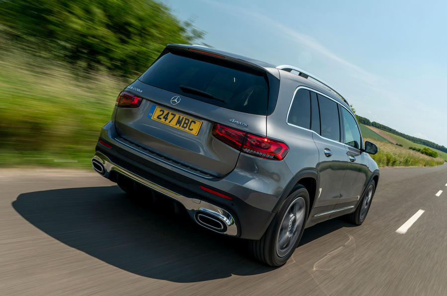 Mercedes-Benz GLB 2020 UK first drive review - hero rear