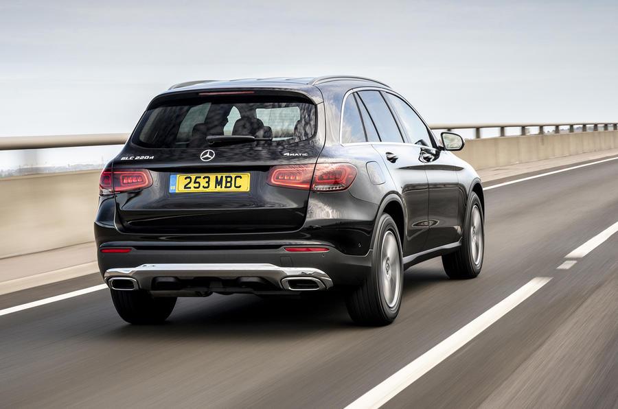 Mercedes-Benz GLC 220d 2019 UK first drive review - hero rear